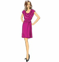 Butterick B5749: Oh, how I love a good drapey-neck!