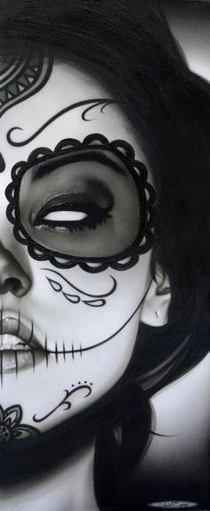 Oh my god i love dia de los muerto makeup