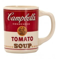 1968 Ceramic Campbell's Soup Advertising Mug ($140) ❤ liked on Polyvore featuring home, kitchen & dining, drinkware, fillers, soup mugs, ceramic mugs and ceramic soup mug