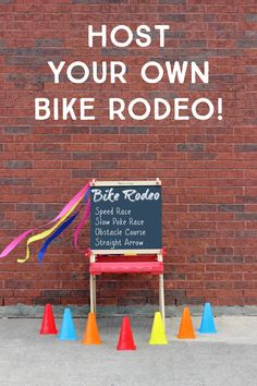 Bike rodeos are a great way to help kids practice simple techniques and safety habits that will help them each time they ride!