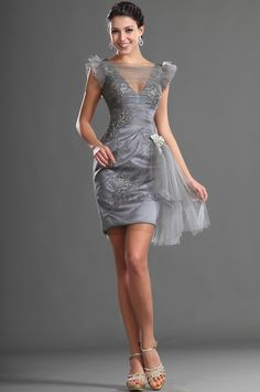 Hourglass Lace Mid Back Appliques Knee Length Summer Tulle Crystal Floral Pin Sleeveless Cocktail Dress