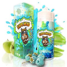 Vape Heads Smurf Sauce E-Juice is a delicious and satisfying combination between sour Blue Raspberry with Tart Green Apple and Sweet Hard Candy! Vape Facts, Smok Vape, Juice Packaging, E Liquid Flavors, Giving Up Smoking, Sour Candy, Smoke Shops, Free Instagram, Vape Juice