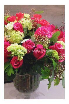 Rose Handtied (in a vase) - FIORI Oakville Ultimate Love Collection | FIORI Oakville