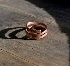Man's copper ring simple man's ring rustic by UnicornVibration, $11.00