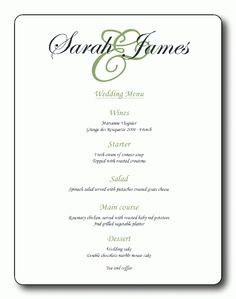 Flourish Monogram 01 Contemporary and Classic Wedding Menu Cards ...