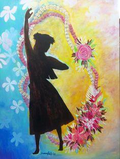 フラガール イラスト Hula Dancers, Hawaii, Painting, Painting Art, Paintings, Hawaiian Islands, Painted Canvas, Drawings
