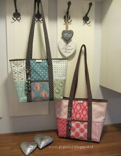 patchwork tote bags by GoGini