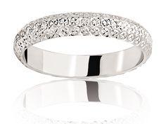 anneau Blanc, Alliance de mariage Diamanteka 3,5, Alliance Ponce Or, DIATEKA35-48G18K