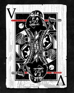 vader playing card