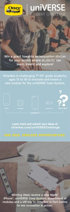 Interactive, hands-on learning activity for the classroom - introducing the uniVERSE Student Challenge! To learn more and to enter, visit www.otterbox.com/universechallenge.