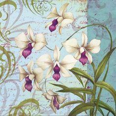 Orchid Sextet by Elena Vladykina Art Vintage, Decoupage Vintage, Vintage Ephemera, Vintage Cards, Vintage Paper, Art Floral, Vintage Pictures, Vintage Images, Decoupage Printables