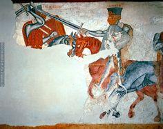 Fresco From Schloss Rodenegg, Rodengo, Italy Dating 1215-1220