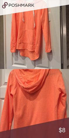 Hoodie Sweatshirt Neon orange very comfy sweatshirt worn only one time in perfect condition authentic american hertiage So Tops Sweatshirts & Hoodies