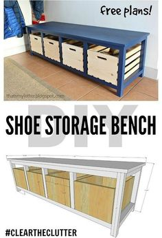 diy shoe storage bench, diy, painted furniture, storage ideas, woodworking projects