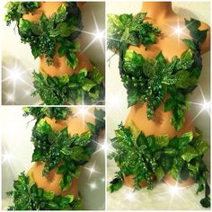 Deluxe Poison Ivy Costume PREMADE 34B Top/S by TheLoveShackk