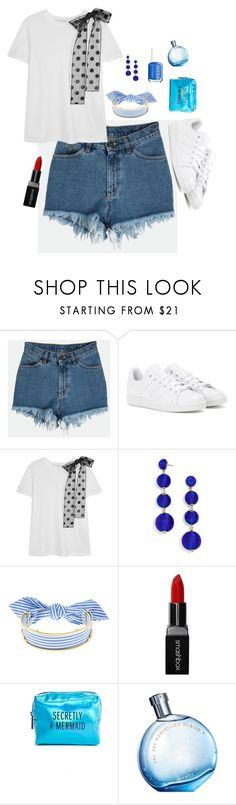 """Untitled #593"" by vaniaoliveira97 ❤ liked on Polyvore featuring adidas, RED Valentino, BaubleBar, Monica Sordo, Smashbox, Pinch Provisions, Hermès and Essie"