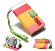 Pu Leather Stripe Wallet Case Cover For Samsung Galaxy Mini +Screen Protector Iphone Accessories, Accessories Online, Buy Iphone, Samsung Galaxy S3, Ipod Touch, Pu Leather, Wallet, Mini, Cover