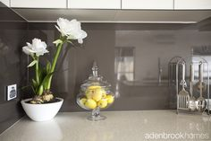 Classy yet contemporary glass splashback