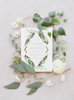 Painted Rock Winery Wedding: L+E | Blush Photography - Vancouver Wedding Photographers greenery wedding invite modern