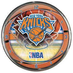 timeless design 04d89 8ccb6 New York Knicks Chrome Clock