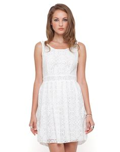Motel Evie Lace Mini Dress in Off White, Top Shop, ASOS, House of Fraser, Nastygal