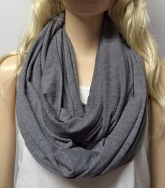 Heather Gray  Infinity Scarf SUPER Soft by GypsysWildHeartShop