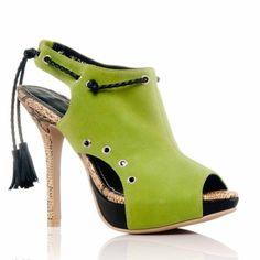 GlamRockChic| designer footwear, luxury high heels, women fashion shoes | Roxanne (green)