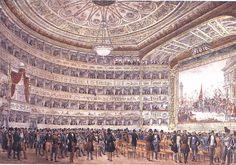 G. Pividor, La Fenice, interior in 1837