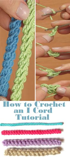 Crochet I cord Crochet I Cord, Crochet Bracelet, Crochet Motif, Irish Crochet, Diy Crochet, Crochet Designs, Crochet Stitches, Love Crochet, Knitting Patterns