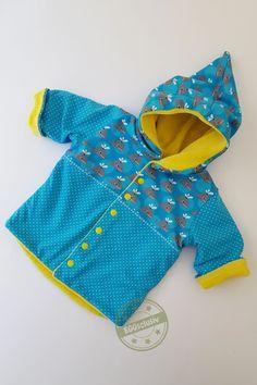Zipfeljacke Bella - Rabaukennaht, Freebook, Nähen fürs Baby