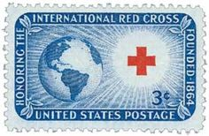 U.S. #1016 was the first bi-colored U.S. postage stamp ever produced on the rotary press.  1952 3c International Red Cross