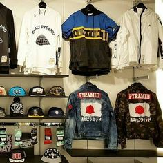Chris Brown's Black Pyramid clothing for his clothing line.