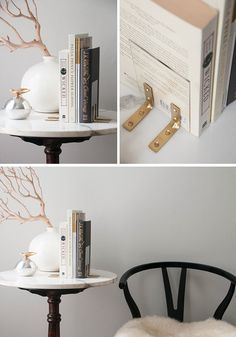 Are you a book worm? How about standing your books up with some simple DIY bookends?