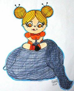 Week 28 : knitting - knitting doll