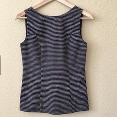 Banana Republic 'Mad Men' sleeveless top Brand new - never worn. Tags still attached! I LOVE this and was so sad when it didn't fit. Although it's sized a 4, it fits like a 2. The darting and deep V back make it so special!! Banana Republic Tops Tank Tops