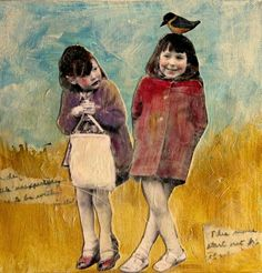 The girl on the right looks like I did as a child. Heather Murray Art