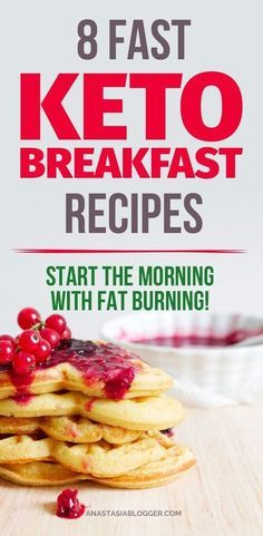 8 Easy Keto Breakfast to start burning fat. Keto Breakfast on the go, Keto breakfast make ahead recipes. Eggs cooked in creative ways are the basis of your breakfast on a Ketogenic diet. But it's not eggs only! You can have a no eggs Keto breakfast with muffins, Keto breakfast pancakes or Keto breakfast smoothie. Keto Recipes, Low Carb Meal Plan & Keto Diet #keto #ketogenic #ketodiet #breakfast #ketorecipes #recipe