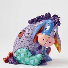 Enesco Romero Britto Disney Statue - Winnie the Pooh Eeyore Figurine 2016 - A10 Collectibles