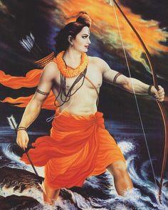 Lord Rama : Seventh Incarnation of Lord Vishnu, Rama is also the hero of the Hindu epic Ramayana, which narrates his supremacy Ram Navami Images, Shree Ram Images, Lord Ram Image, Shri Ram Wallpaper, Hd Wallpaper, Painting Wallpaper, Galaxy Wallpaper, Lord Sri Rama, Shri Ram Photo