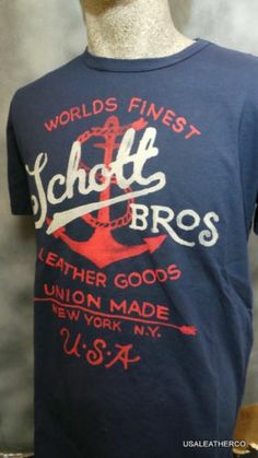 Schott NYC New T Shirts T Nautical Made in USA Ask for Sizes  eb21143cab26