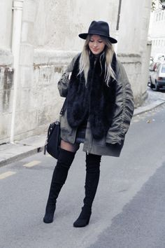 Cuissardes et bomber oversize www.theoverview.fr