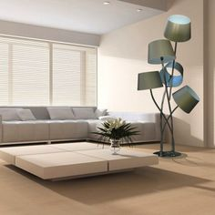 Stylish floor lamp, definitely unique