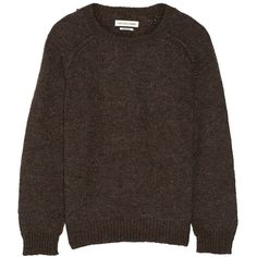 Étoile Isabel Marant Raya knit sweater ($149) ❤ liked on Polyvore featuring tops, sweaters, brown, knit sweater, loose knit sweater, side slit sweater, brown sweater and knit tops