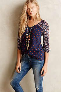 Stitch Fix---love this! Maybe for under cardigan or jacket? Anthropologie - Ayana Peasant Top