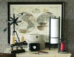 World traveler themed furniture collection. Lots of cool stuff in here!