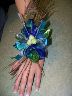 Prom Corsages Ideas | Photo Gallery - Photo Of Peacock Prom Corsage