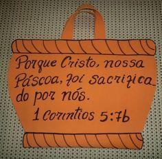 CANTINHO DAS HISTÓRIAS BÍBLICAS: VISUAIS PARA A HISTÓRIA AS DUAS PÁSCOAS