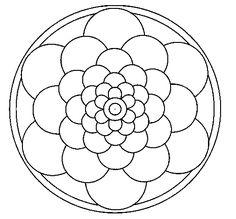 Dibujo de Mandala 22 para Pintar y Colorear en Línea - Dibujos.net