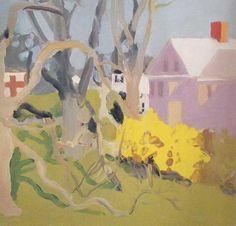 The Art of Fairfield Porter: An American Painter Celebrated a . Fairfield Porter, Spring Landscape, Paintings I Love, Flower Paintings, Renaissance Art, Museum Of Fine Arts, Landscape Paintings, Landscapes, Landscape Art
