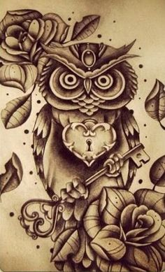 This is an awesome owl tattoo.